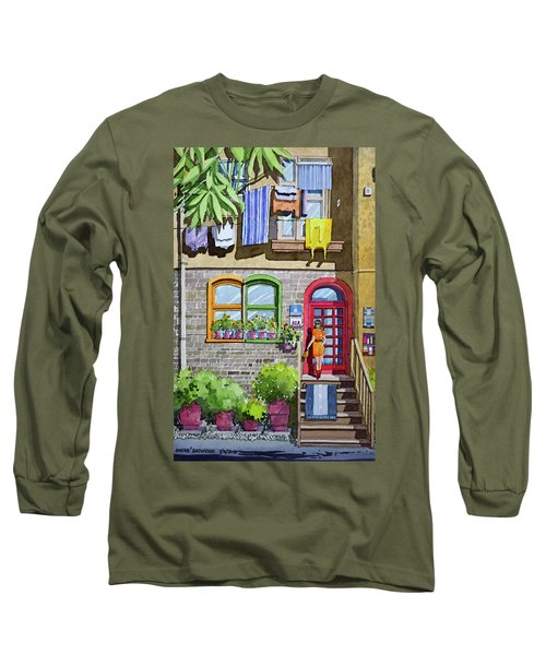 Apartment With Red Door Long Sleeve T-Shirt