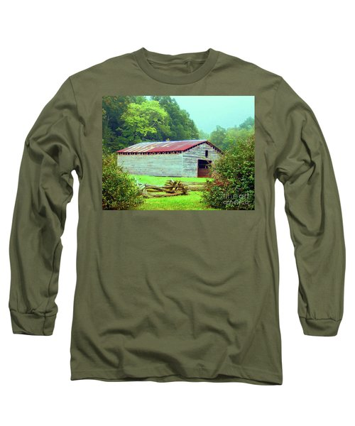 Appalachian Livestock Barn Long Sleeve T-Shirt by Desiree Paquette