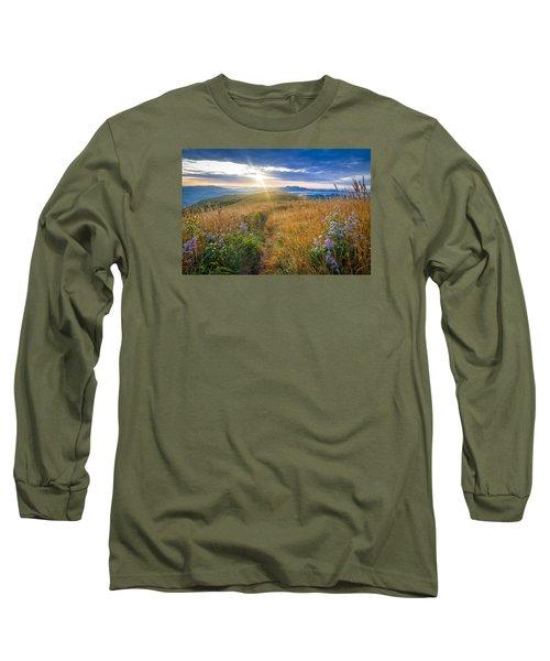 Appalachian Sunrise Long Sleeve T-Shirt by Serge Skiba