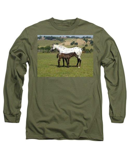 Appaloosa Mare And Foal Long Sleeve T-Shirt