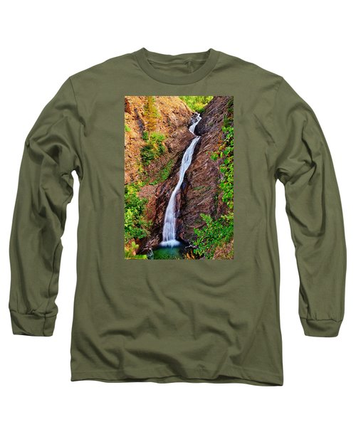 Long Sleeve T-Shirt featuring the photograph Appistoki Falls by Greg Norrell