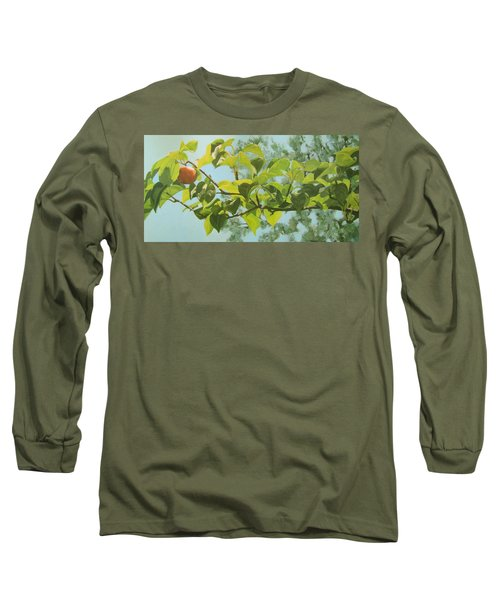 Long Sleeve T-Shirt featuring the painting Apple A Day by Karen Ilari