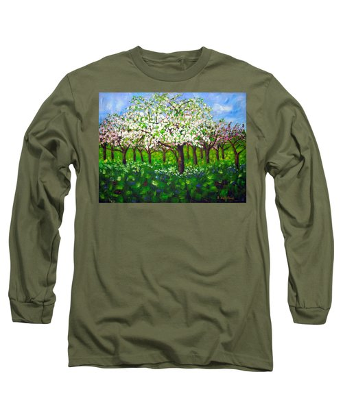 Apple Blossom Orchard Long Sleeve T-Shirt