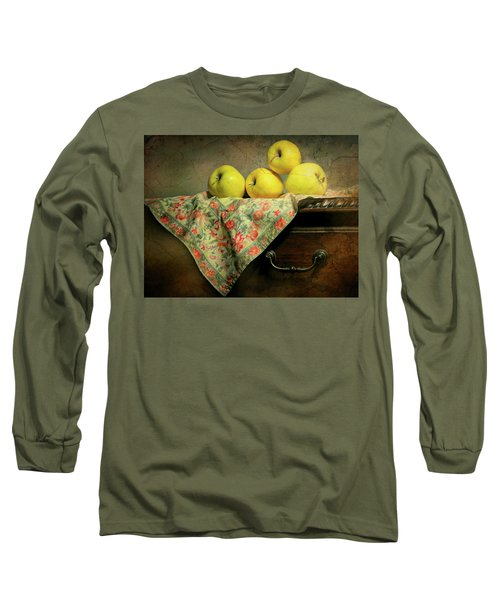 Long Sleeve T-Shirt featuring the photograph Apple Cloth by Diana Angstadt