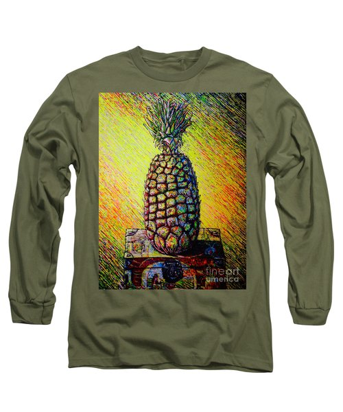 Long Sleeve T-Shirt featuring the painting Apple ..of The Pine by Viktor Lazarev