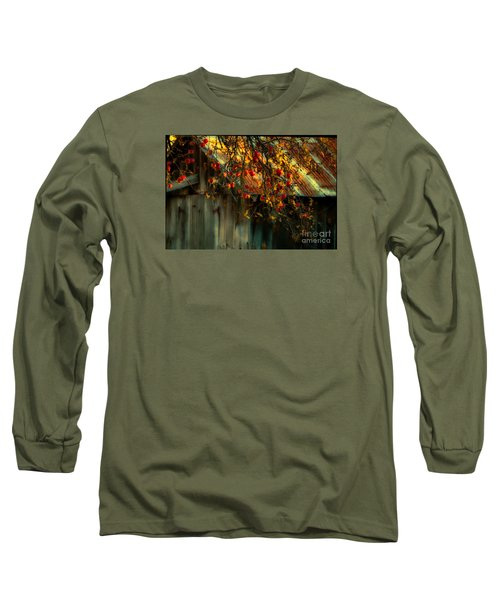 Apple Picking Time Long Sleeve T-Shirt by Sherman Perry