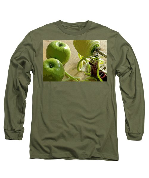 Apples Getting Peeled Long Sleeve T-Shirt