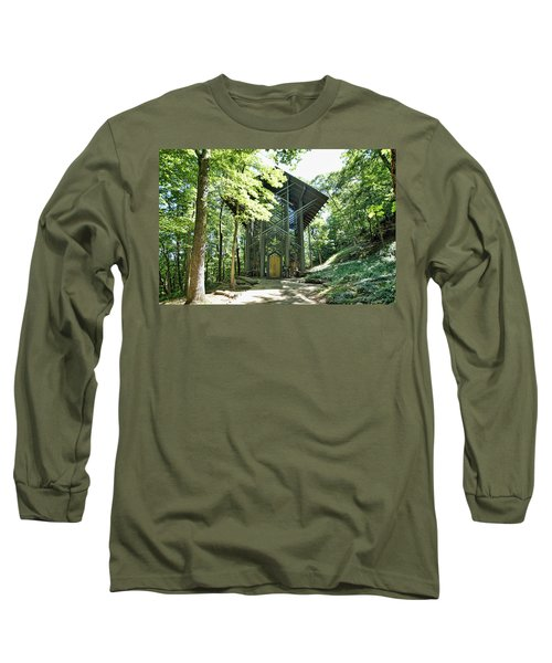 Long Sleeve T-Shirt featuring the photograph Approaching Thorncrown Chapel by Cricket Hackmann