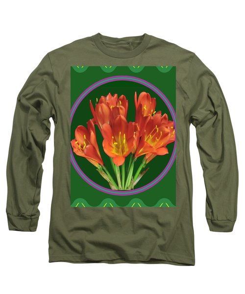 Aquilegia Formosa Flower Floral Photography N Graphic Fusion Art Navinjoshi Fineartamerica Pixels Long Sleeve T-Shirt
