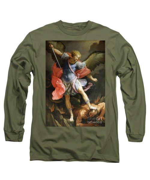 Archangel Michael Defeating Satan Long Sleeve T-Shirt