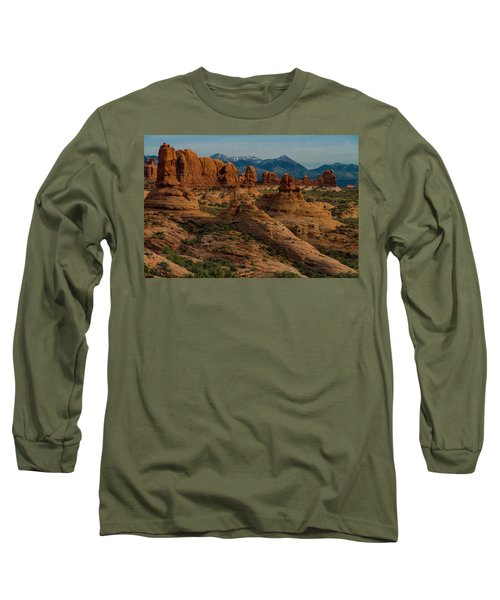 Long Sleeve T-Shirt featuring the photograph Arches National Park by Gary Lengyel