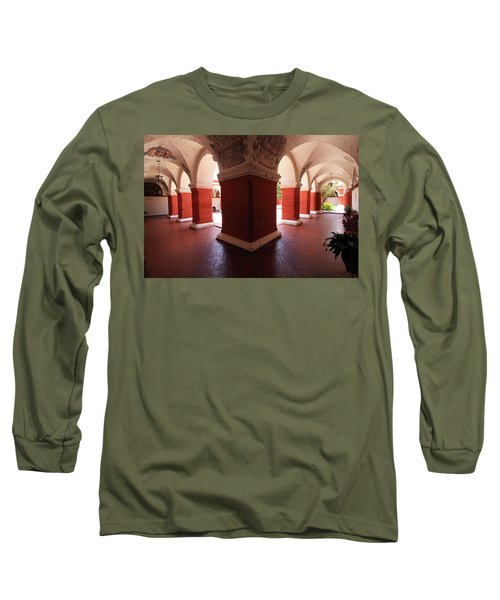 Long Sleeve T-Shirt featuring the photograph Archway Paintings At Santa Catalina Monastery by Aidan Moran