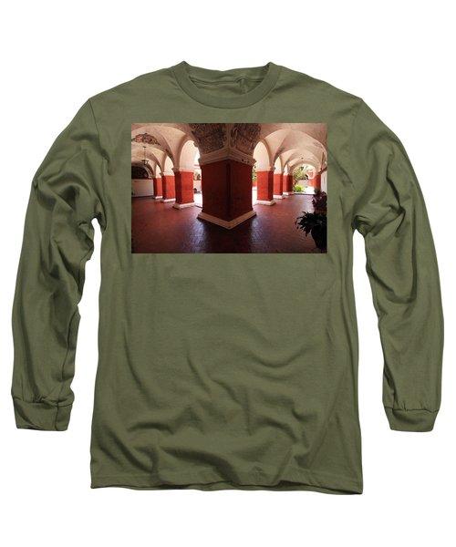 Archway Paintings At Santa Catalina Monastery Long Sleeve T-Shirt by Aidan Moran