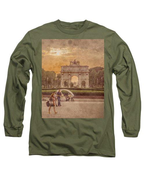 Paris, France - Arcs Long Sleeve T-Shirt