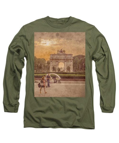 Paris, France - Arcs Long Sleeve T-Shirt