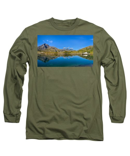 Long Sleeve T-Shirt featuring the photograph Arctic Reflections by Maciej Markiewicz