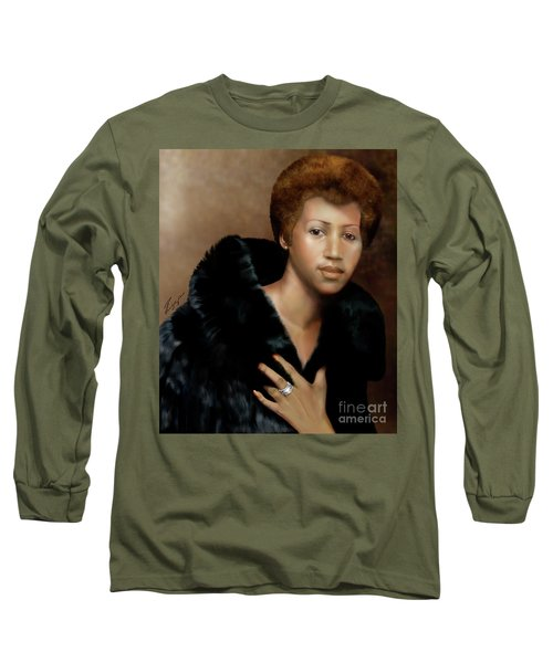 Aretha Franklin Once Upon A Queen Long Sleeve T-Shirt