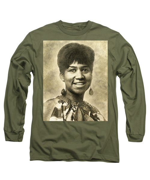 Aretha Franklin Queen Of Soul Long Sleeve T-Shirt