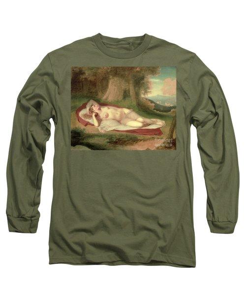 Ariadne Asleep On The Island Of Naxos Long Sleeve T-Shirt