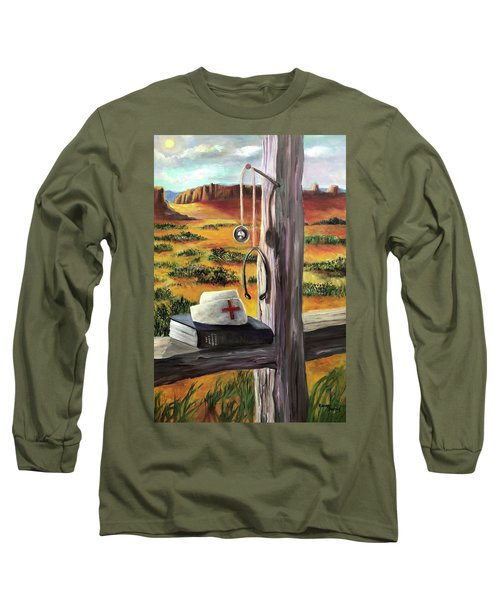 Long Sleeve T-Shirt featuring the painting Arizona The Nurse And Hope by Randol Burns