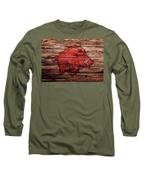 Arkansas Razorbacks 1a Long Sleeve T-Shirt by Brian Reaves