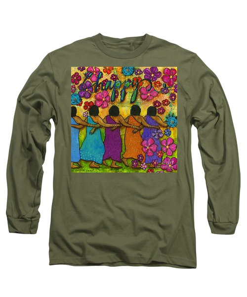 Arm In Arm - The Strongest Chain Long Sleeve T-Shirt by Angela L Walker