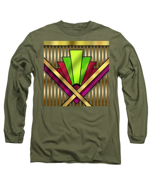 Art Deco 13 Transparent Long Sleeve T-Shirt