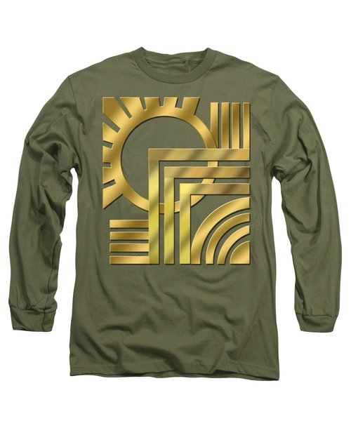 Art Deco 21 Transparent Long Sleeve T-Shirt