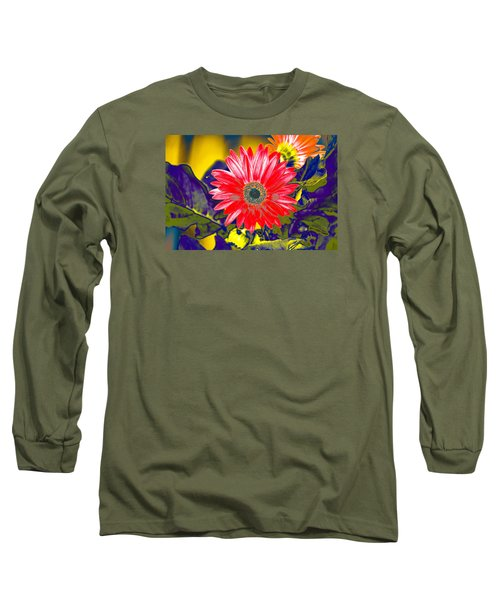 Artistic Bloom - Pla227 Long Sleeve T-Shirt by G L Sarti