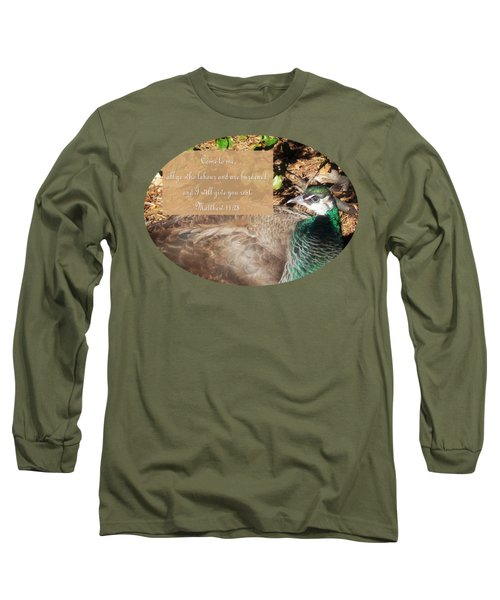 Place Of Rest With Verse Long Sleeve T-Shirt by Anita Faye