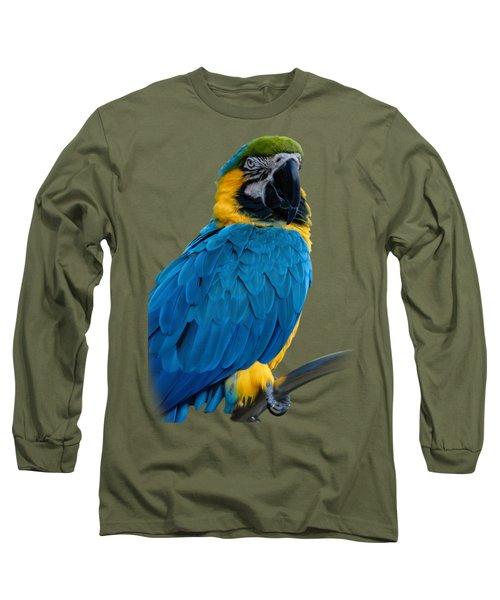Blue Yellow Macaw No.2 Long Sleeve T-Shirt