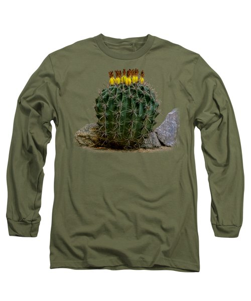 Barrel Against Wall No50 Long Sleeve T-Shirt by Mark Myhaver