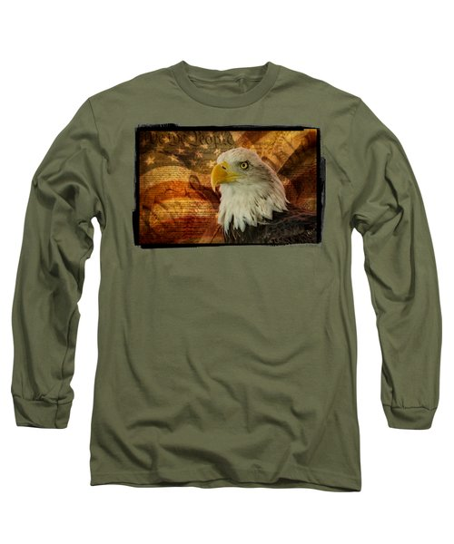 Long Sleeve T-Shirt featuring the photograph American Icons by Susan Candelario