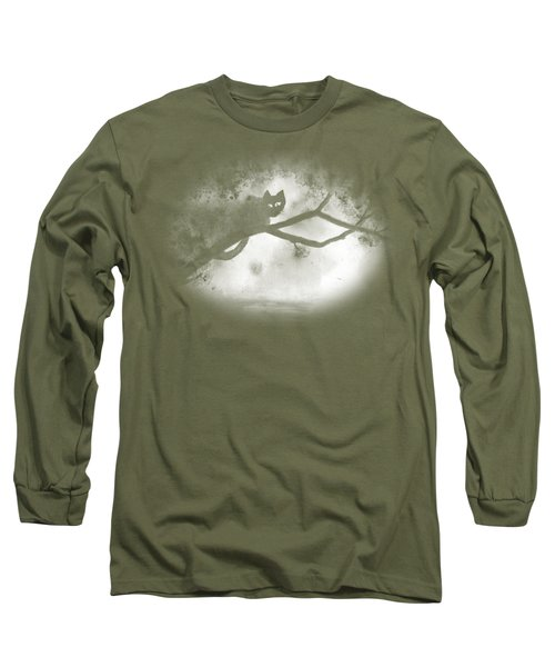 Chat Dans L'arbre Long Sleeve T-Shirt by Marc Philippe Joly
