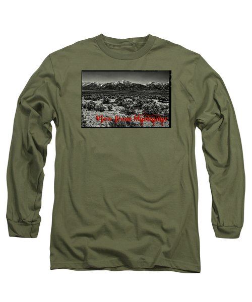 Mount Whitney From The Western Boundary Of Manzanar Concentratio Long Sleeve T-Shirt