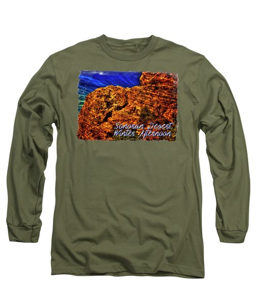 Navajo Sandstone And Cirrus Clouds Long Sleeve T-Shirt