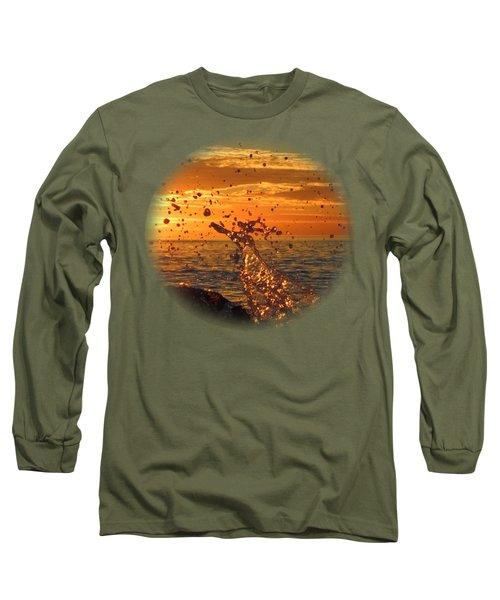 Ocean Splash Long Sleeve T-Shirt by L Hollis