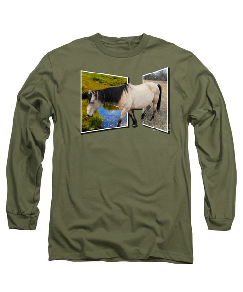 The Grass Is Always Greener On The Other Side Long Sleeve T-Shirt by Shane Bechler
