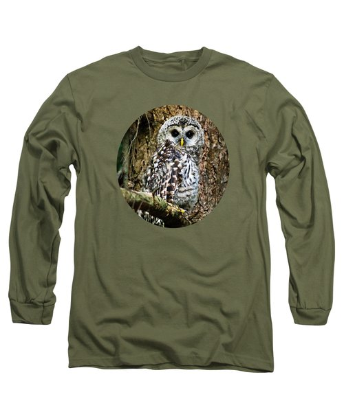 Long Sleeve T-Shirt featuring the photograph Barred Owlet by Christina Rollo