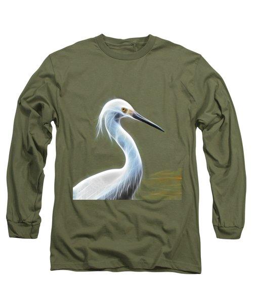 Snow Egret Long Sleeve T-Shirt by Shane Bechler