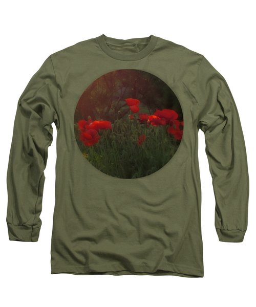 Sunset In The Poppy Garden Long Sleeve T-Shirt