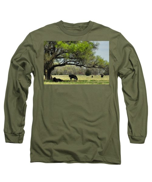Shady Rest Long Sleeve T-Shirt by Bill Kesler