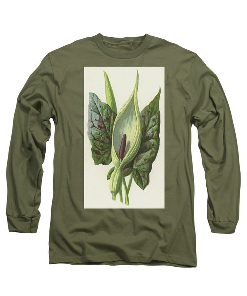 Arum, Cuckoo Pint Long Sleeve T-Shirt by Frederick Edward Hulme