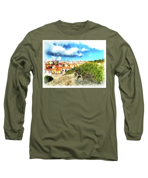 Arzachena Landscape With Clouds Long Sleeve T-Shirt