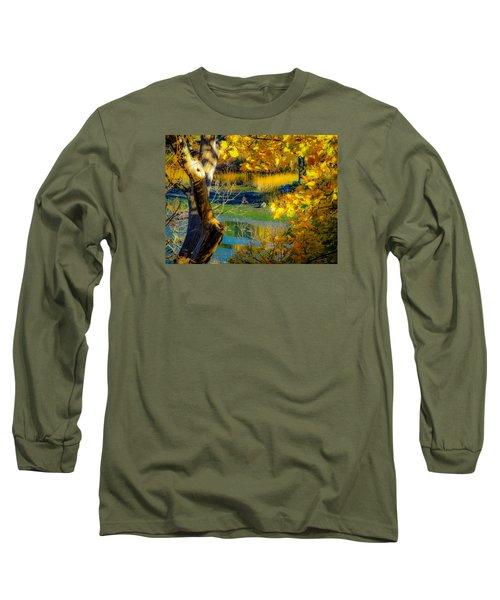 Long Sleeve T-Shirt featuring the photograph As Fall Leaves by Glenn Feron