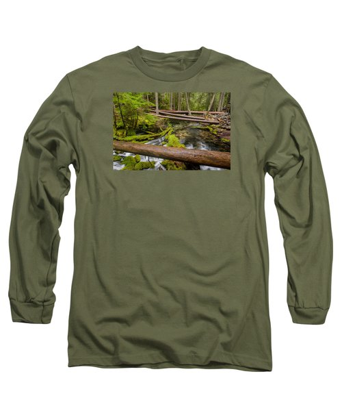 As The Creek Flows Long Sleeve T-Shirt by Greg Nyquist