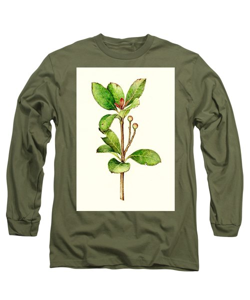 Long Sleeve T-Shirt featuring the painting As The Twig Is Bent The Tree Inclines. by Heidi Kriel