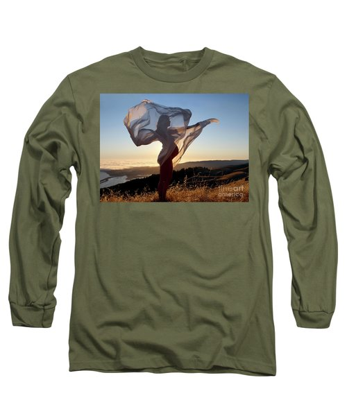 As The Wind Carries The Flower Of A New Life Long Sleeve T-Shirt