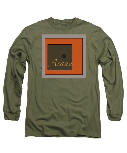 Long Sleeve T-Shirt featuring the digital art Asana by Kandy Hurley
