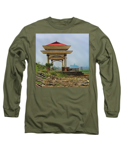 Asian Architecture I Long Sleeve T-Shirt by Chuck Kuhn